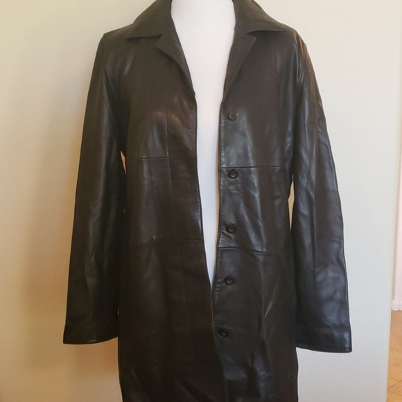 Express Jackets & Blazers - Express Real Leather Knee Length Leather Jacket